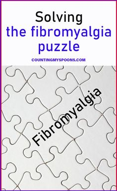 Feeling better with fibromyalgia is like solving a puzzle. How I look at the fibromyalgia puzzle and find the answers that work for me. Fibromyalgia Syndrome, Fibromyalgia Pain, Chronic Pain, Chronic Fatigue, Chronic Illness, Treating Fibromyalgia, Dealing With Stress, Crps, Medical Research