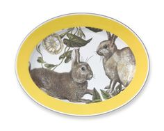 Yellow Banded Easter Platter. Oh, how I want this!