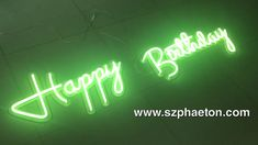 neon light sign for wedding/ birthday party and events 4 buchstaben Neon Wall Signs, Custom Neon Signs, Neon Light Signs, Led Neon Signs, Happy Birthday Wishes Cards, Happy Birthday Video, Happy Birthday Images, Live Wallpaper Iphone, Neon Wallpaper
