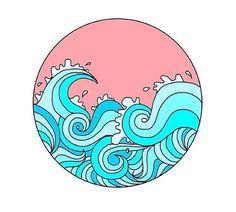 """Life is a beach, enjoy the waves"" Cd Wall Art, Cd Art, Tumblr Stickers, Cute Stickers, Art Mots, Posca Art, Hippie Painting, Hippie Art, Tumblr Wallpaper"