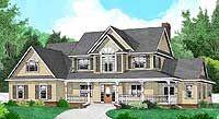 Four Bedroom Country Farmhouse Plan