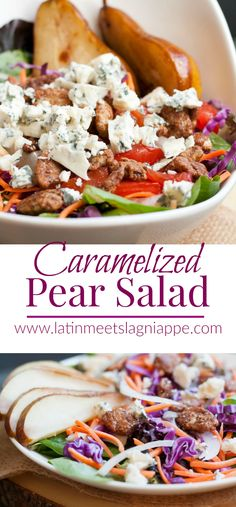 Caramelized Pear Salad - the Gorgonzola, pears and candied pecans in this salad make it pretty much amazing!