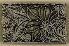 c20 hand carved afghan printing block