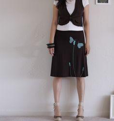 Knee Length A-line skirt