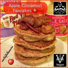 Vegan Apple Cinnamon Pancakes