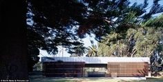 Number one spot: The Australian public toilet blends in with its natural surroundings as w...
