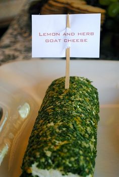 Lemon and Herb Goat Cheese Log - That's the only recipe I've tried from this page but it was so simple and delicious! Next time I'd put my herbs in the food processor to chop them up finer.