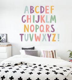 Alphabet Boys Nursery ABCs Wall Decals Learning Set Letters Set Children Safe Vinyl Kids Wall Decal Nursery Wall Decal Wall Decals Nursery