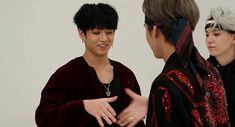 Yoongi is just looking at them so intently