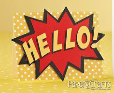 Hello Card | Paper Crafts Connection