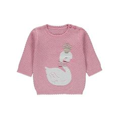 Treat your little one to a jumper that's as adorable as they are with this popcorn textured design. A graceful swan is depicted at the front, finished with a. Baby Fashionista, Baby George, Latest Fashion For Women, Kids Toys, Jumper, Girl Outfits, Sweaters, Swan, Stuff To Buy