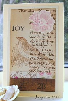 Artistic Outpost Bird stamp - Using scraps and a bird stamp