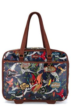 Free shipping and returns on Sakroots 'Artist Circle' Rolling Carry-On Tote (16 inch) at Nordstrom.com. Whether you just want stylish luggage or need to easily spot your belongings in the overhead bin, this handy rolling carry-on will stand out with its free-spirited floral print designed by New York-based artist Joshua Davis. The compact tote goes the distance with a durable, coated-canvas construction, and multiple compartments for your tech and other essentials.