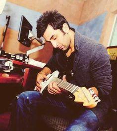 ranbir kapoor with guitar..