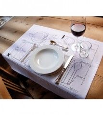 Kniggerich Placemats Teach Table Etiquette- great idea, so many really don't know how to set a table properly. Awesome for kids Table Setting Diagram, Place Settings, Table Settings, Design Online Shop, Design3000, Dining Etiquette, Etiquette Dinner, Table Setting Etiquette, Etiquette And Manners