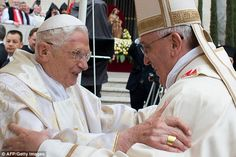 Pope Benedict reveals he 'was unsure' about Francis succeeding him #dailymail