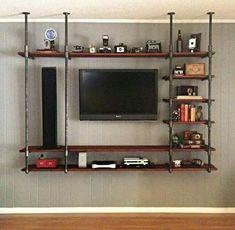 Man kan auch ein Sideboard an der Decke oder der Wand befestigen um den Raum größer wirken zu lassen.