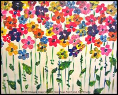 RAINBOW POPPIES at Saratoga Paint & Sip Studio—a gorgeous garden of blooms!!