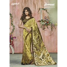 Shop this #GeorgetteSaree in Olive Green with Satin Silk Lace border along with an un-stitched, Raw silk blouse in Olive Green through #Laxmipatisarees. E-mail : info@laxmipati.com Mobile no : (+91) 93760 14032 (Call or Whatsapp)