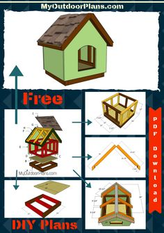 This step by step diy woodworking project is about diy dog house plans. If you want to learn more about how to build a dog house for your backyard, we recommend you to read the instructions and to pay attention to the detailed diagrams. Wood Dog House, Build A Dog House, Dog House Plans, Double Dog House, Small Dog House, Insulated Dog House, Diy Dog Crate, Paint Your House, Diy Shed Plans