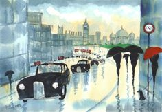 London Taxi Cab art - Bing Images