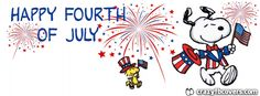 Snoopy Happy Fourth Of July Facebook Cover Facebook Timeline Cover