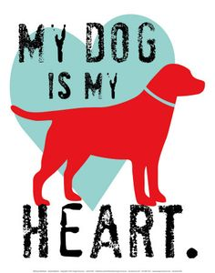 Tangletown Fine Art 'My Dog Is My Heart' by Ginger Oliphant Graphic Art on Wrapped Canvas I Love Dogs, Puppy Love, Cute Dogs, Heart Poster, Kids Canvas, Quilting, Dog Quotes, My Guy, Dogs And Puppies
