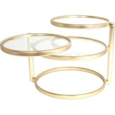 Double Swivel bijzettafel goud - Leitmotiv