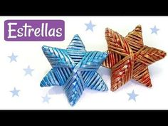 Christmas stars made with newspaper Fabric Stars, Paper Stars, Paper Weaving, Weaving Art, Quilted Ornaments, Christmas Tree Ornaments, Christmas Stars, Wire Crafts, Diy Home Crafts