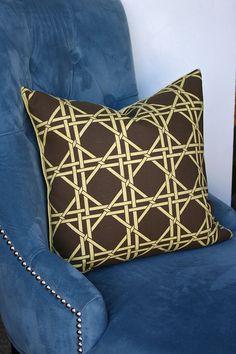 British Cane printed cushions