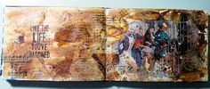 cbee's cards and more: Art Journal Page like in the video
