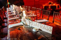 Laser Cut Wooden Table Cards  Hoffer Photography | Modern Wedding Photographers