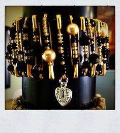 Safety pin bracelet www.etsy.com/shop/lovemades