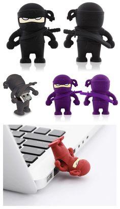Bone Ninja flash drives. OMG so cool :D