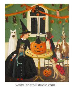 Miss lune était une gouvernante de chien.  par janethillstudio