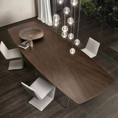 A wood and metal modern dining table for contemporary dining.- A wood and metal modern dining table for contemporary dining rooms. Simple yet s… A wood and metal modern dining table for contemporary dining rooms. Simple yet so very elegant. Luxury Dining Tables, Furniture Dining Table, Luxury Dining Room, Oak Table, Dining Table Design, Wooden Dining Tables, Modern Dining Table, Dining Room Table, Dining Chairs