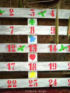 #DIY Adevent Calender #Christmas #pallet #recycle