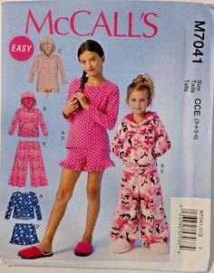 McCall's Child Girl Tops Dress Shorts Pants Sewing Pattern 7041 Size 3-6 UNCUT #McCalls