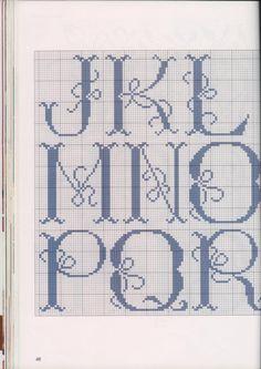 """Cross stitch alphabet """"Tie Me A Bow"""" #2 of 3"""