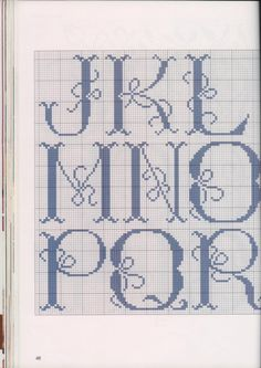 "Cross stitch alphabet ""Tie Me A Bow"" #2 of 3"