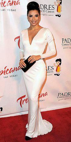 Eva Longoria in Maria Lucia Hohan & Swarovski clutch @ Padres Contra el Cáncer gala, Las Vegas