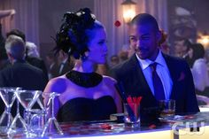 "The Originals -- ""Tangled Up in Blue"" -- Claire Holt as Rebekah and Charles Michael Davis as Marcel"