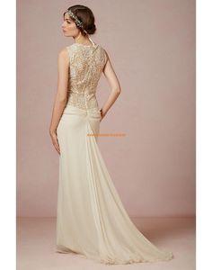 Wunderschöne Bodenlange Hochzeitskleider aus Chiffon