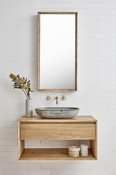 Use in both bathrooms - Loughlin furniture, Baxter vanity. Use in both bathrooms Loughlin furniture, Baxter vanity. Laundry In Bathroom, House Bathroom, Bathroom Furniture, Bathroom Interior Design, Interior, Small Bathroom, Bathroom Renovations, Dream Bathroom, Bathroom Decor