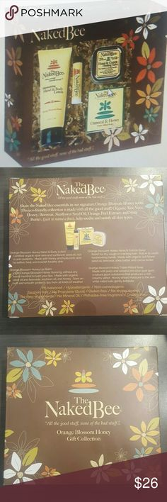 NEW❤THE NAKEDBEE GIFT BOX❤ NEW / WITH BOX INCLUDED 1 ORANGE BLOSSOM HONEY 2.25oz LOTION, 1 ORANGE BLOSSOM HONEY Lip BALM , 1 ORANGE BLOSSOM HONEY 1.5oz HAND SALVE  AND 1 ORANGE BLOSSOM HONEY 1.5oz OATMEAL AND HONEY SOAP. PERFECT GIFT. 🎁 I INCLUDED SAMPLES OF MY SALE PRODUCTS THE NAKEDBEE Other