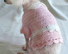 Crochet Pattern dog sweater crochet pattern by OnceUponAPoodle