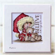 Featuring Penny Black's stamp Berry Merry SKU 404153, available at www.addictedtorubberstamps.com Card created by Birgit Edblom.