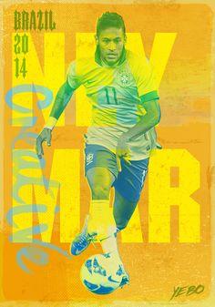 Neymar Illustration from Yebo Design  Marketing