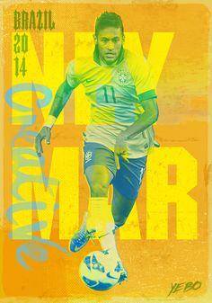 Neymar Illustration from Yebo Design  Marketing