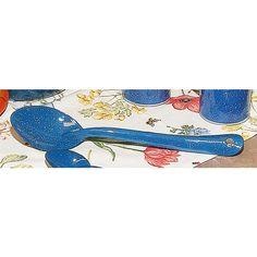Royal Blue Enamelware Serving Spoon